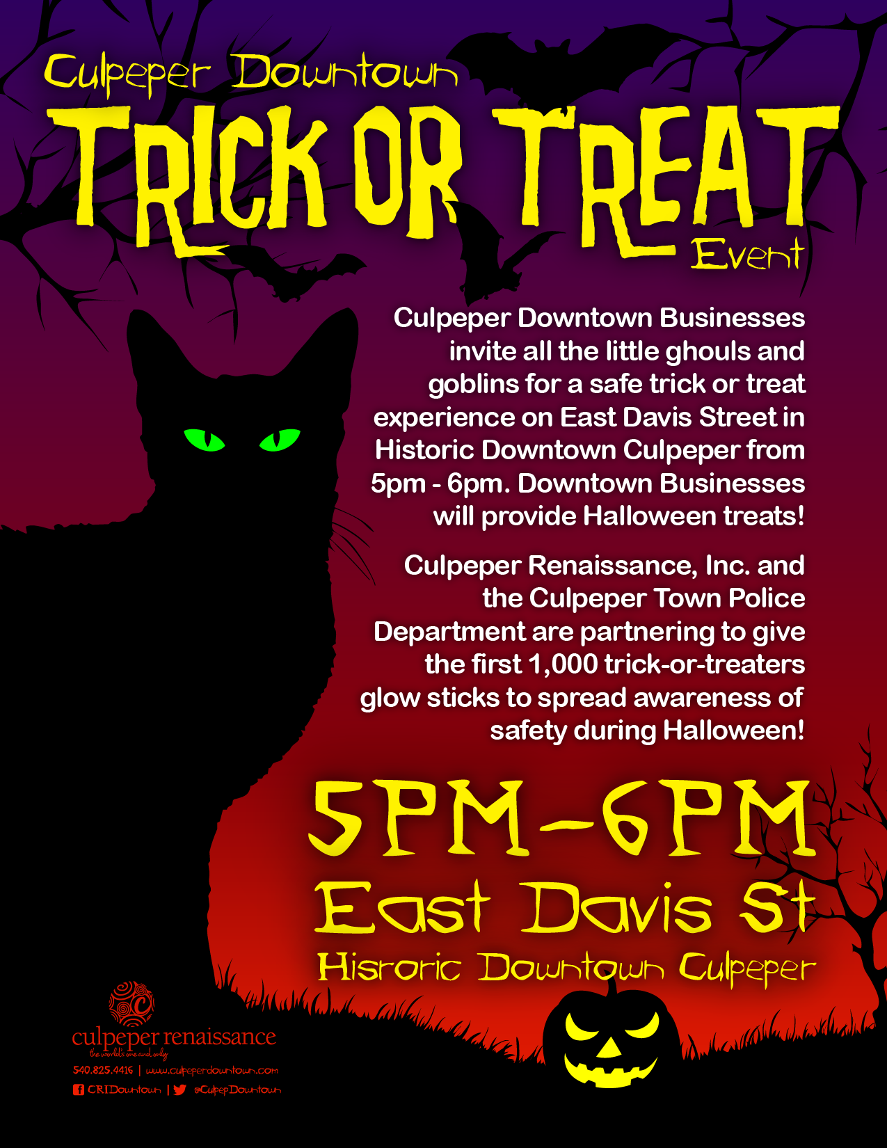 2020 Halloween Treat Trick Davis Culpeper Tourism | Events | Culpeper Downtown Trick or Treat